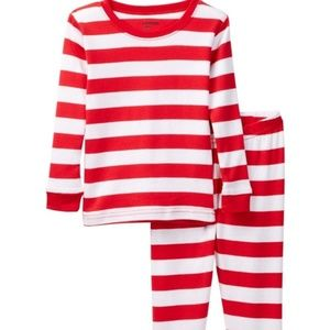 Leveret Candy Cane Striped Pajama Set Unisex Sz 8